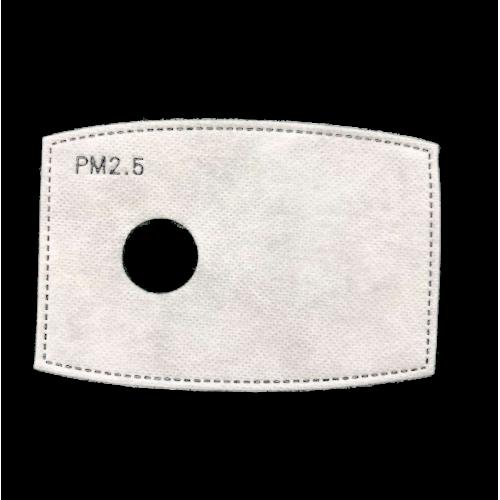 10 Filtres PM2.5 5 couches charbon actif pour masque antipollution silex