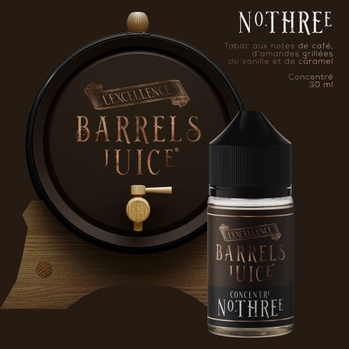 Tabac N° Three  60 ml - Barrels Juice
